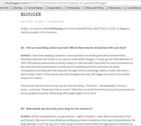 The Baggout Interview