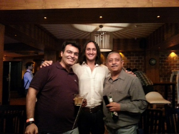 With Rohit Khurana (a blogger friend), and the legendary stand-up comedian PapaCJ