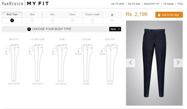 Van Heusen_trouser fit