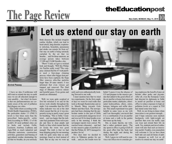 2015_05_11_The Education Post_Review_Philips Air Purifier