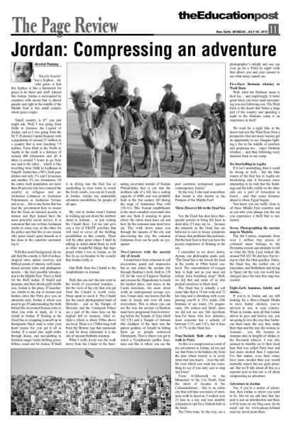 2015_06_06_The Education Post_Jordan - Compressing an adventure