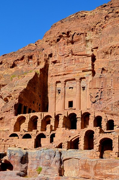 Petra symbolises the creative stances of humans... and their wish to keep themselves safe from marauding enemies