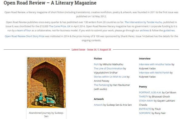 Open Road Review_Issue 14_01 August 2015_Stories within us wish to live_Arvind Passey
