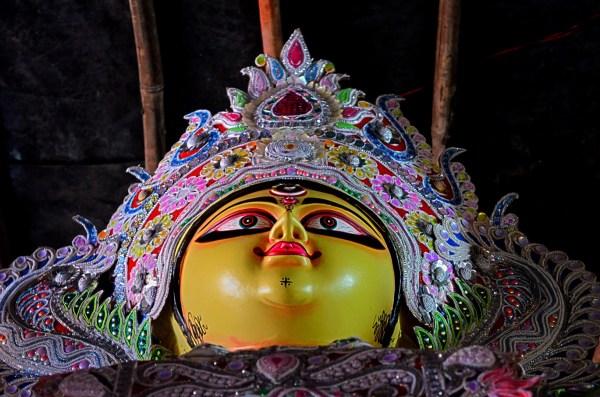 021_Durga Puja. I'm sure these idols are happy...