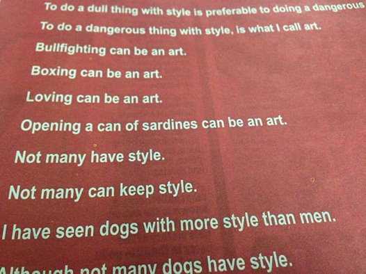 Lines by a poet in the India Today's 'Art Awards 2016' print media ad