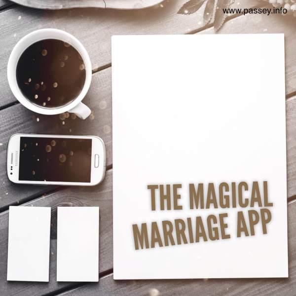 The magical marriage app... a poem for the #BloggingMarathon