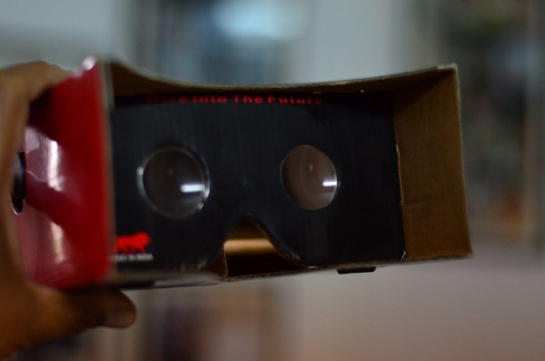 Cardboard VR kit... the cheaper alternative but not as immersive as the Samsung Gear VR