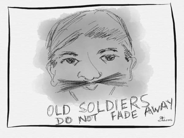 Old soldiers aren't going to fade away