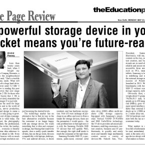 A powerful storage device in your pocket means you're future-ready