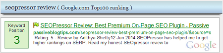 Google keyword ranking