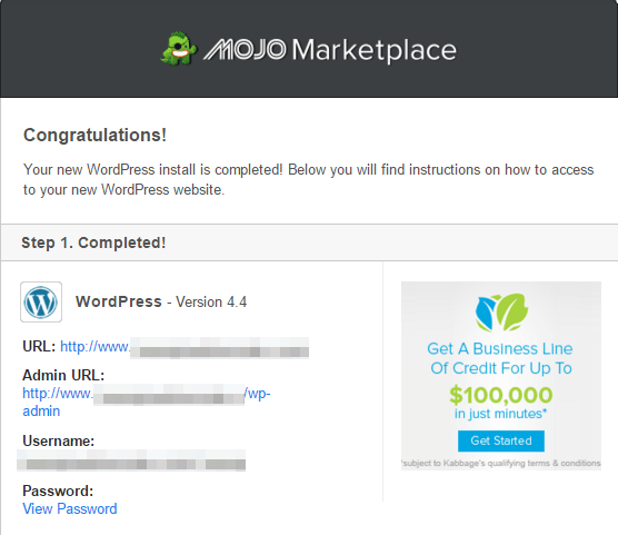 step 15 - mojo marketplace email