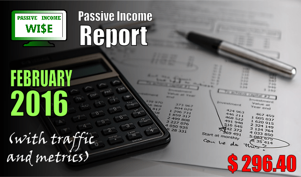 monthly income report February 2015