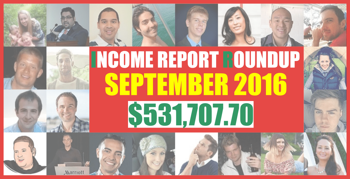 Income Roundup Report - September 2016