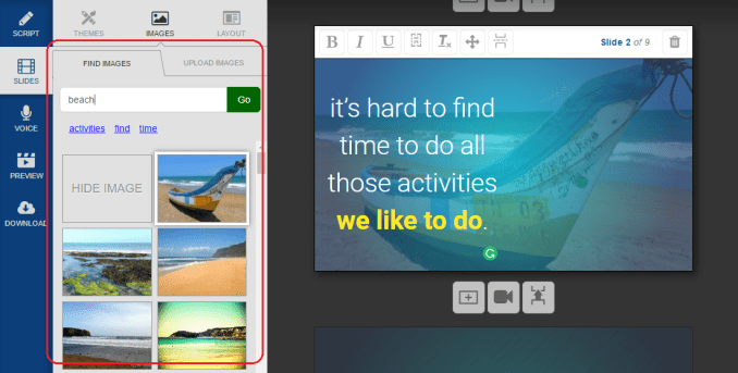 add images to your slides