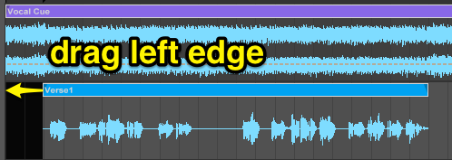 drag left edge