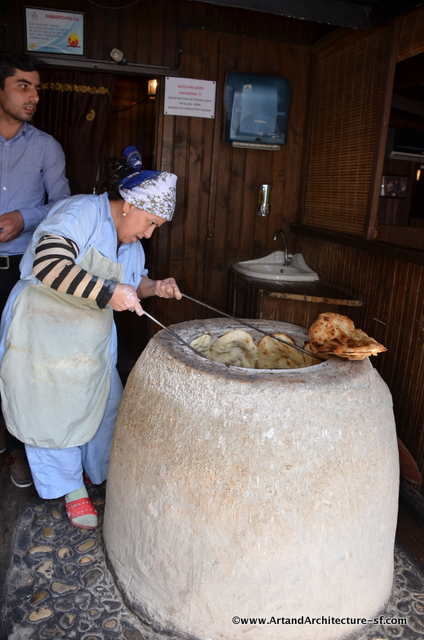 Azerbaijani Bread Making