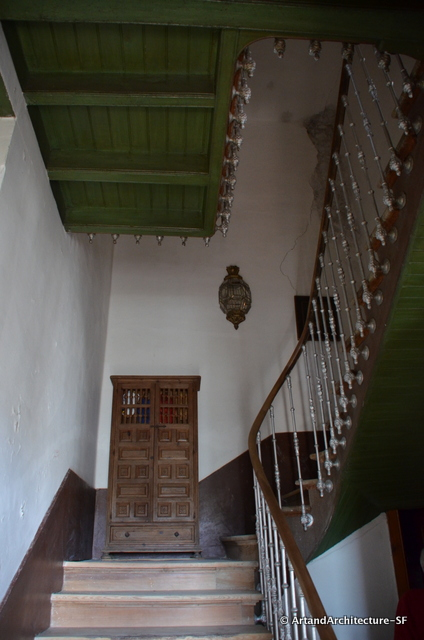 The stairway of the house in town