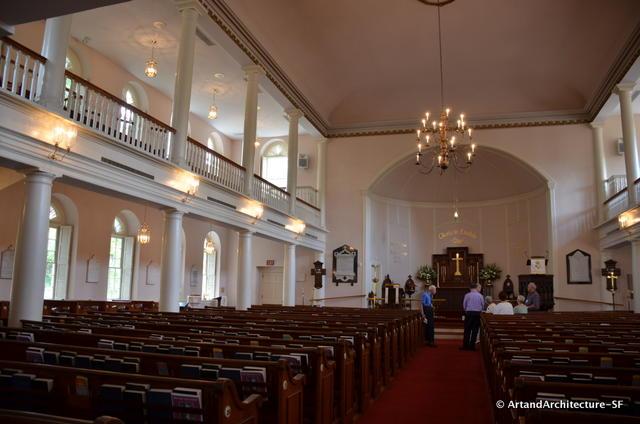 Interior of the Parish of Saint Helena