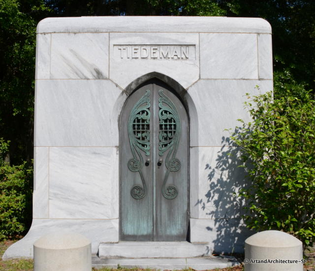 Stunning Art Deco Doors at the Bonaventure Cemetery