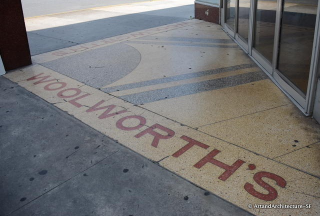 Terrazzo at the old Woolworth's building
