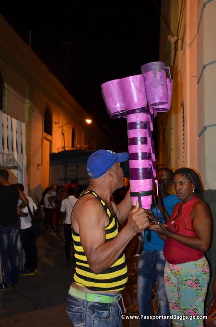 A beer seller at Carnaval Santiago de Cuba