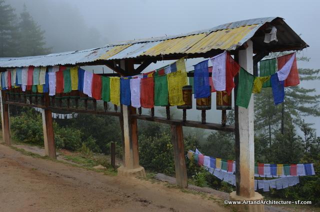 Prayer Wheels and Prayer Flags are everywhere along your trek