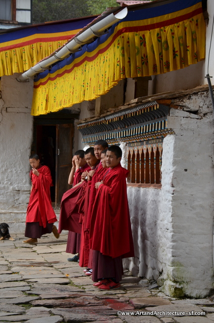 Monks of Kyichu Lhakhang
