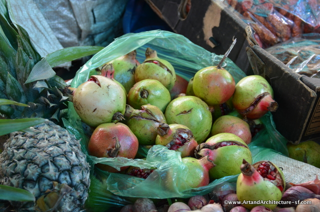 Guavas, apples, pears and bananas are also common fruits throughout Bhutan