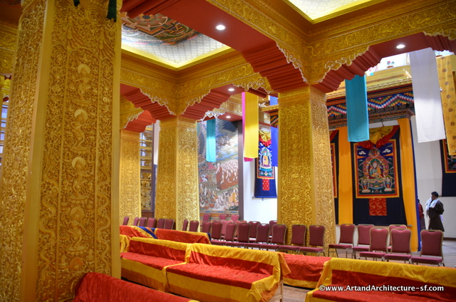 The interior is ringed with stunning gold columns