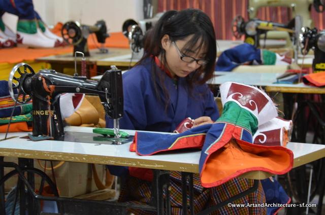Embroidery in Bhutan