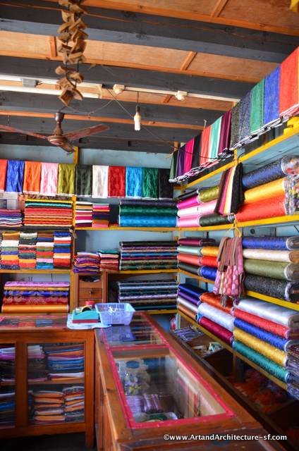 The local clothing and fabric store