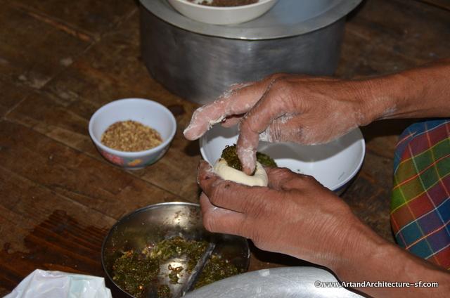 making Momos in Bhutan