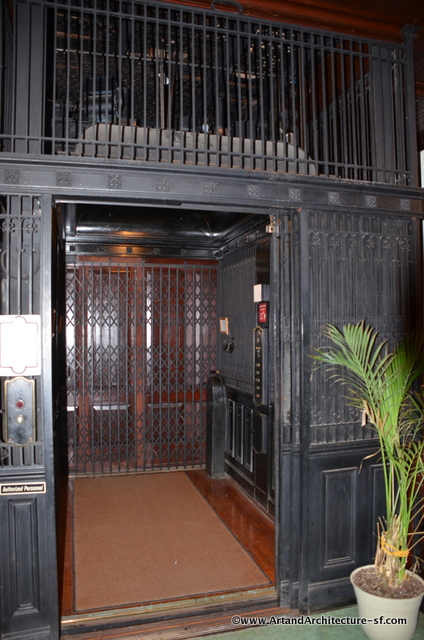This Otis cage elevator was added in 1812.