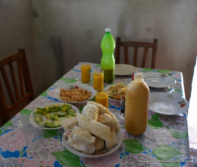 The breakfast table the next morning
