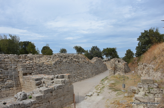 The ancient walls of Troy