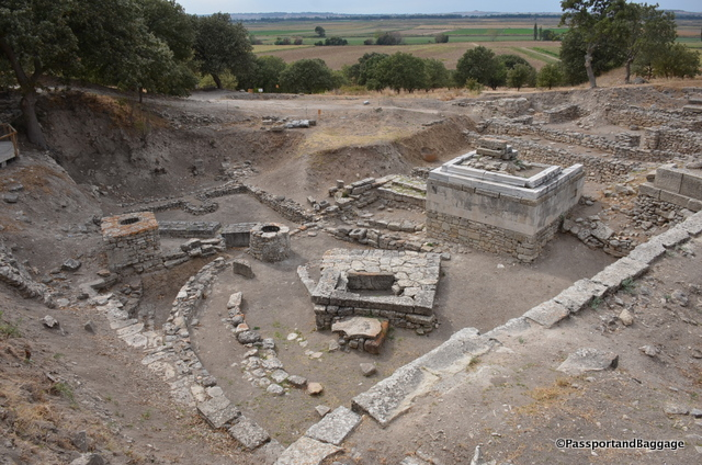 "The Sanctuary where Xerxes sacrifice ""1000"" cows, possibly dates to the 7th century BC"