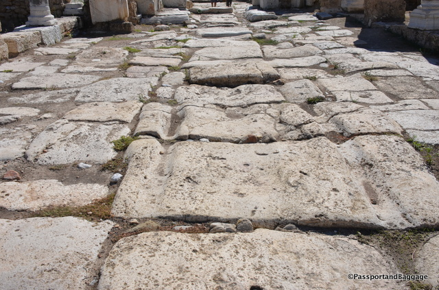The main road with its ruts from thousands of years of carts moving down the street