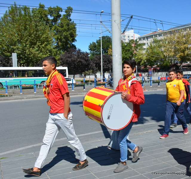 I ran across these fellows twice, they were chanting something, in a football team sort of way