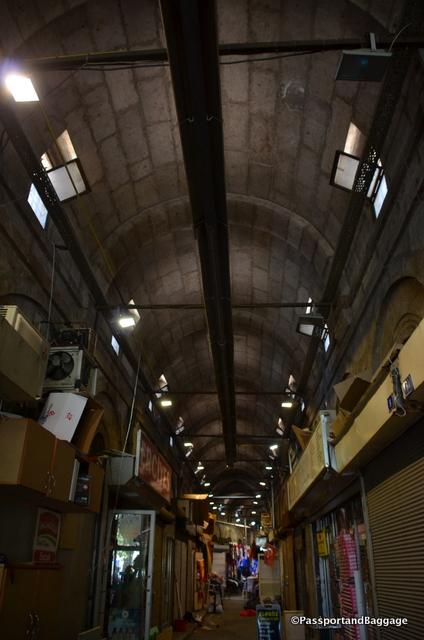 The ceiling of one of three grand bazaars in Kayseri