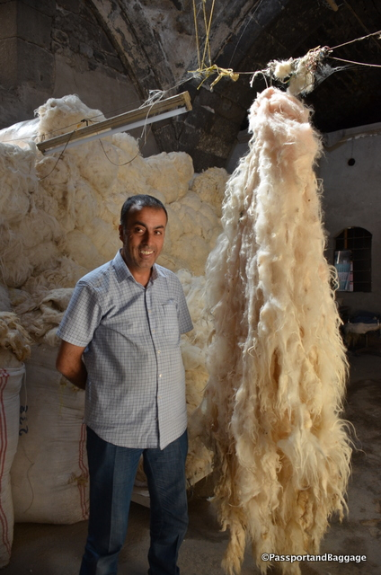 Savas' family is in the wool business, they then contract with women around Turkey to turn their wool into Kilim carpets