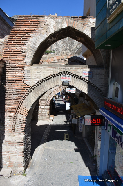 An archway in the old market area of Amasya