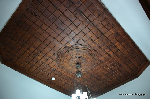 The ornamental wooden ceilings of the houses can be found in most every room