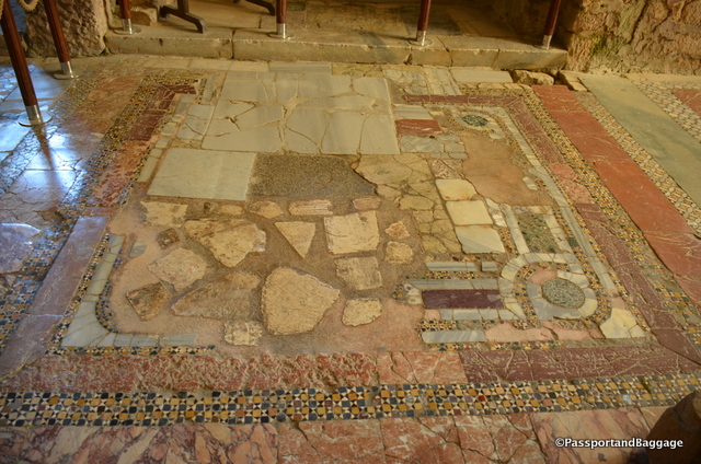 The floor of the church varies from room to room, each as spectacular as the next
