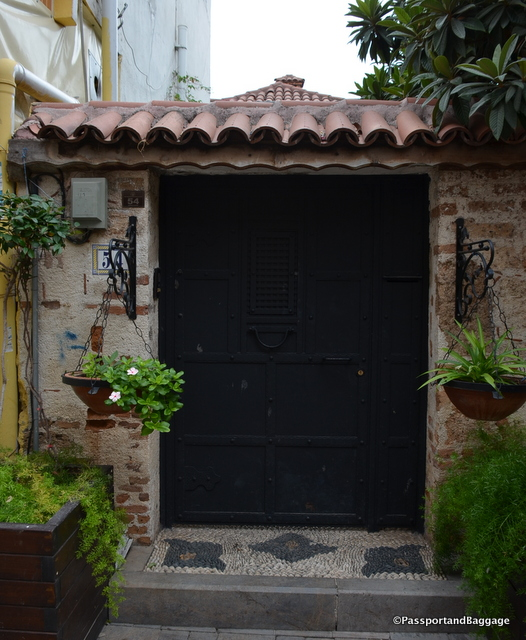 Pebble floors and interesting doors are all a part of Kaleiçi