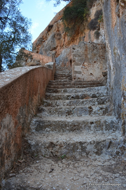 Just a small hint of the final stairs that lead down to the monastery