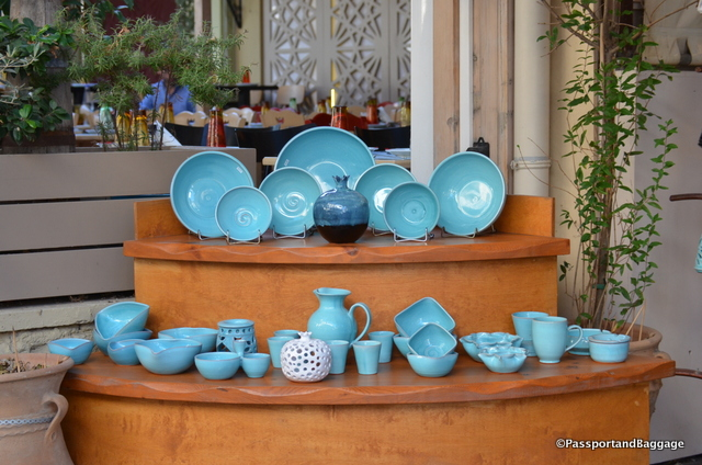 Gorgeous blue pottery, made locally