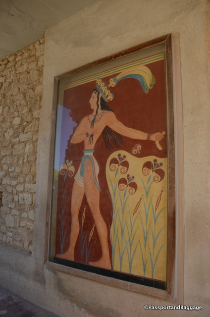 Fresco secco, which is the application of paint, in particular for details, onto a dry plaster was used throughout Knossos as was the use of low relief in the plaster to give a shallow three dimensional effect.