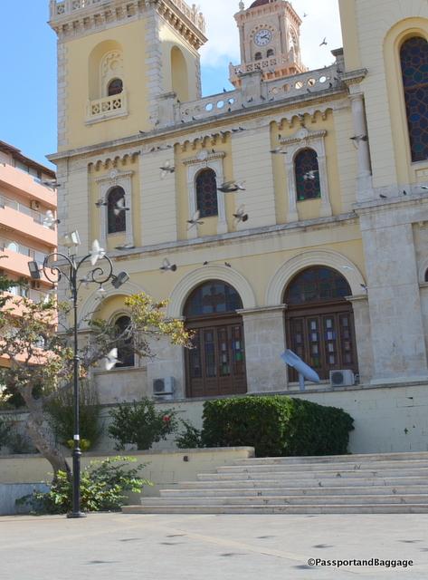 Bomb on St Minos Church Heraklion