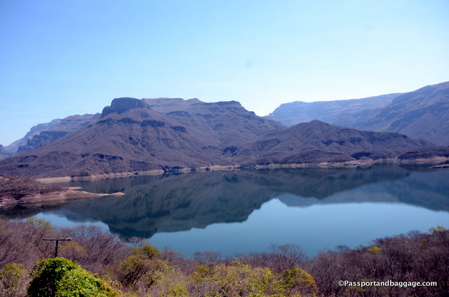 Colossio reservoir, created by the Luis Donaldo Colossio Dam separates the states of Sinaloa and Chihuahua