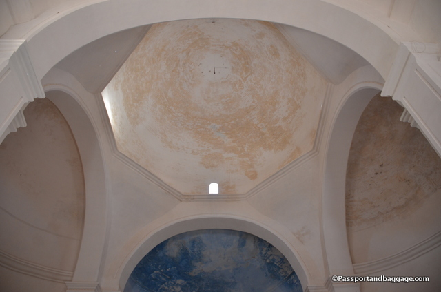 The interior of the domes in San Miquel de Satevo
